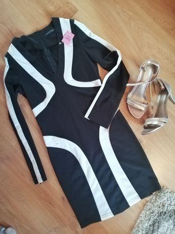 Czarno biała sukienka