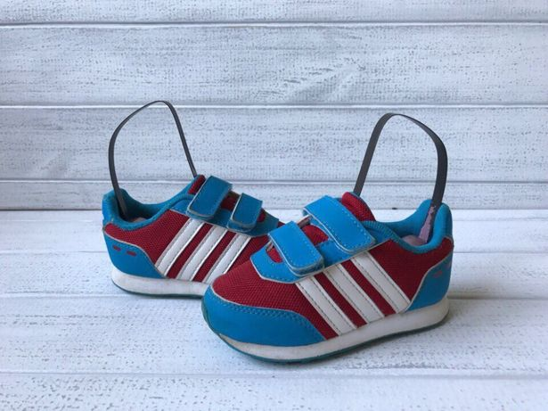 Кроссовки adidas neo размер 22 на липучках синие оригинал