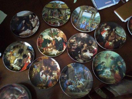 Pratos da Vista Alegre - coleção Festa de Natal