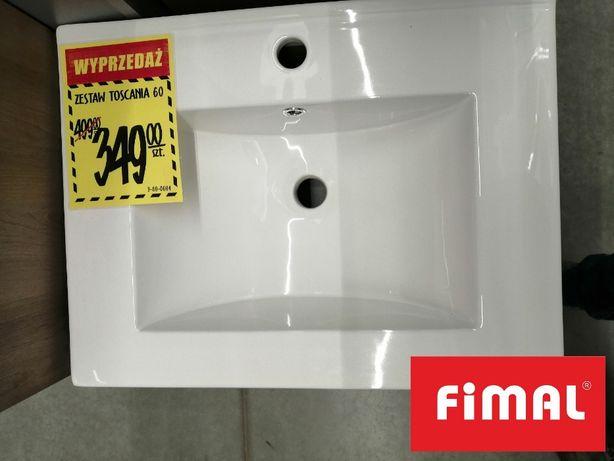 Zestaw Toscania szafka + umywalka 60 OUTLET! 349zł