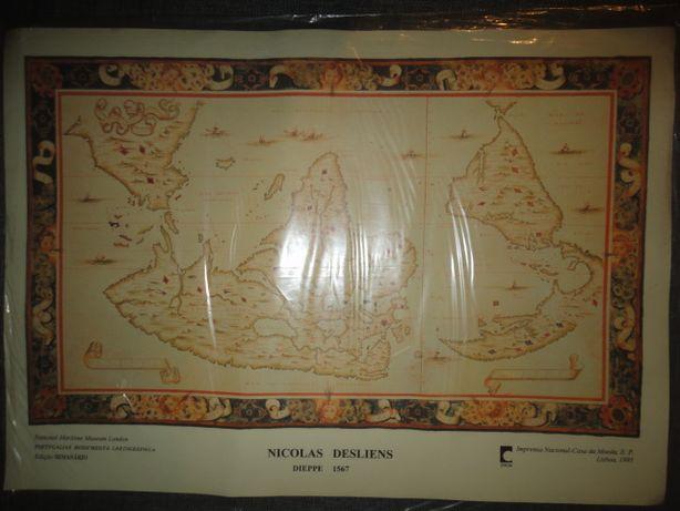 """Cartografria """"Portugaliae Monumenta Cartographica """" Nicolas Desliens"""