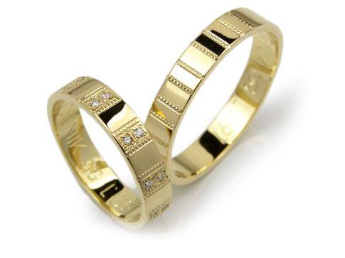 Goldrun Złote Obrączki Ślubne L097 Para Bezszwowe