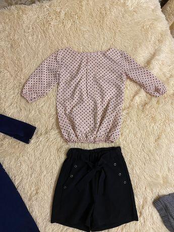 Блузка/ рубашка в школу на девочку 11-13 лет р 152-158