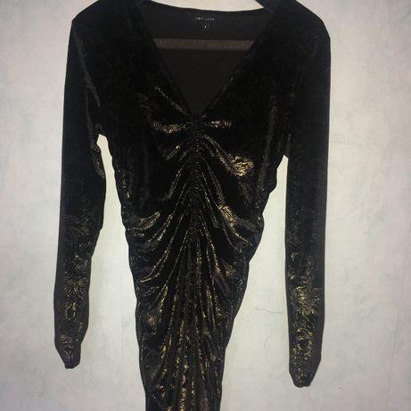 Czarno-złota sukienka New Look r S/36