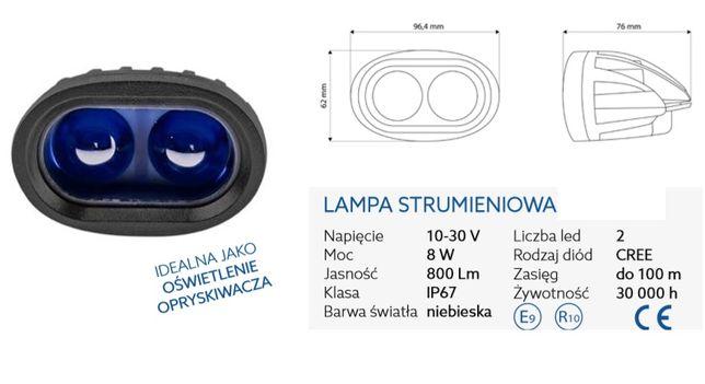Lampa strumieniowa niebieska 2x8w idealna do oświetlenia opryskiwacza