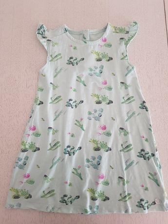 Sukienka Coccodrillo miętowa w kaktusy rozm. 110/116