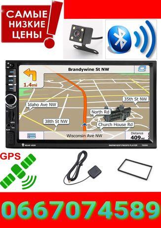 Автомагнитола с GPS 2 Din Pioneer 7021G новая. Bluetooth Навигатор.