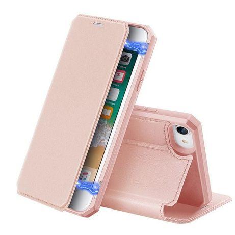 Capa Livro Horizontal Dux Ducis Skin X Iphone 7 E 8 - Rosa