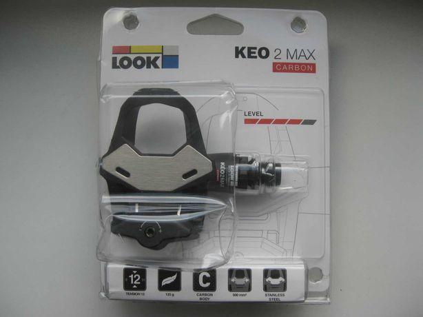 Pedały LOOK KEO 2 MAX CARBON Pedały rowerowe nowe z blokami