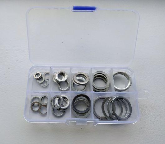 Набор алюминиевых колец шайб 6-22мм (9 размеров по 5шт.)