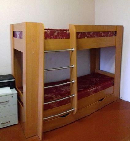 Кровать двухъярусная Дуэт-3 Ольха с 2мя ортопедическими матрацами