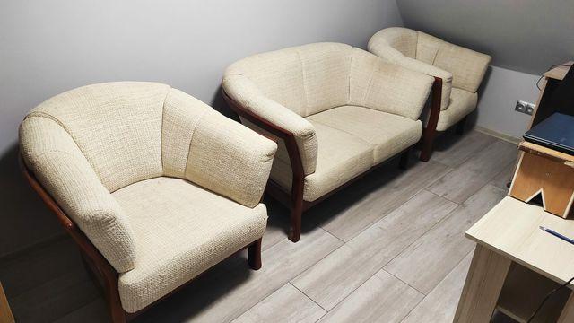 Komplet wypoczynkowy do salonu, sofa + 2 fotele