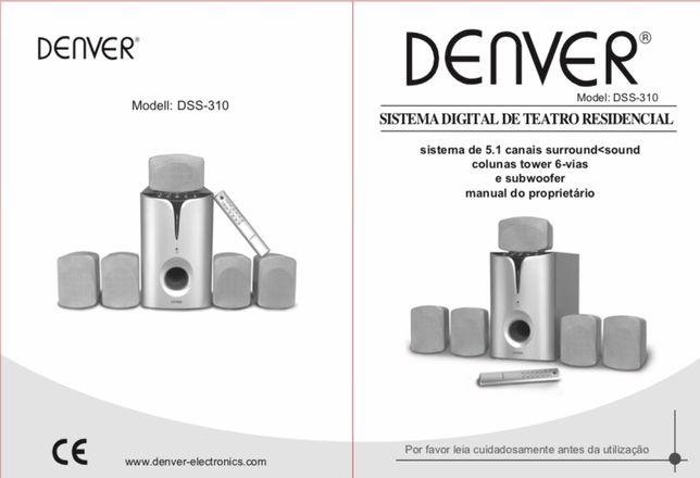 Sistema de som home cinema Denver DSS-310
