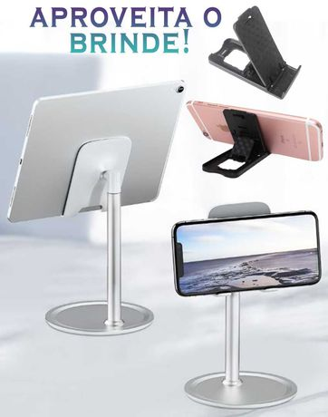 Suporte[Preto/Cinzento] + BRINDE - Telemóvel/Tablet em Secretária