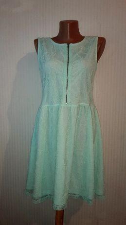 Мятное платье, сукня h&m