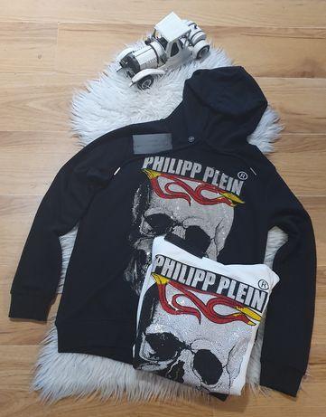 Bluza meska z kapturem cekiny Philipp Plein