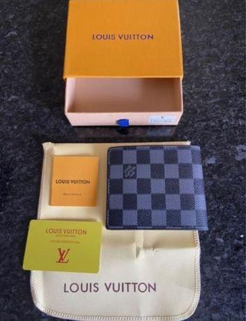 Carteira de Bolso Louis Vuitton Em Couro C/Caixa 3 Padrões Disponiveis