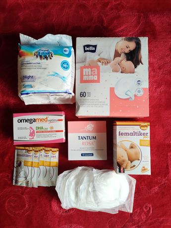 Zestaw produktów potrzebnych po porodzie