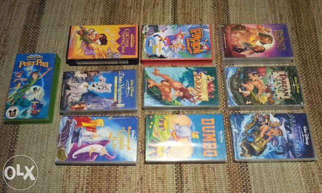 Filmes infantis em cassetes VHS (originais)