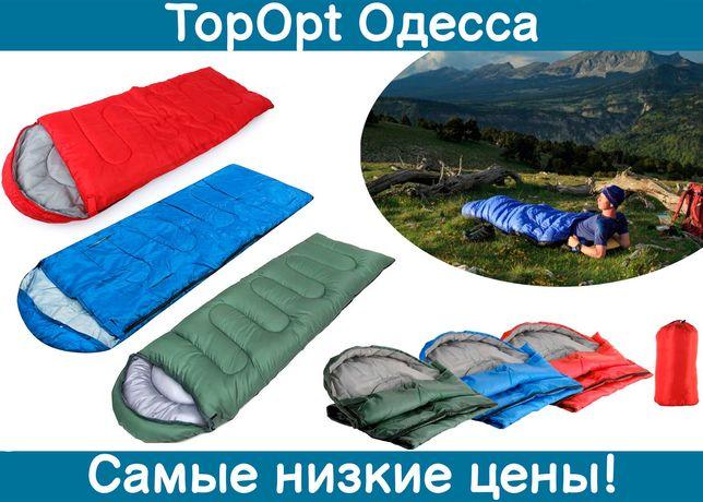 Спальный мешок, спальник, одеяло с капюшоном на молнии 190х70 см