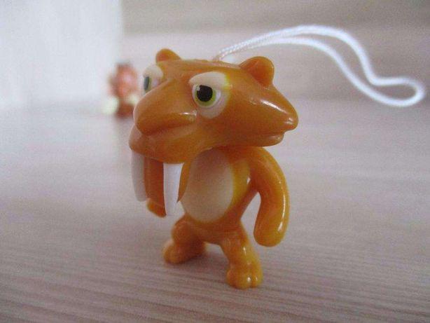 Epoka lodowcowa małe figurki - Sid, Maniek, Diego, wiewiór, oposy