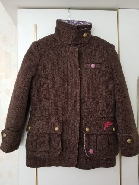 Шерстяная курточка-пиджачок TM Joules для девочки (4 года, рост 104)