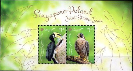 Blok 227 Ptaki Singapuru i Polski(wersja Singapur)