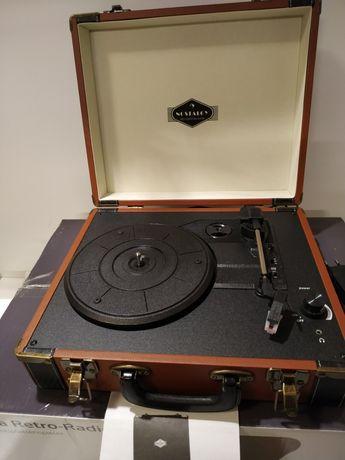 Jerry Lee BT gramofon BT USB nagrywanie & odtwarzanie brązowy