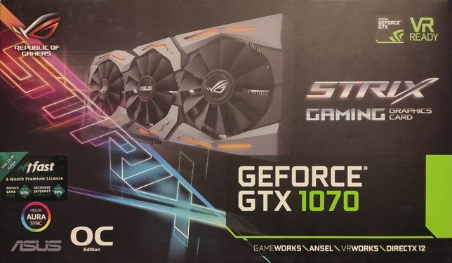 Karta graficzna ASUS GeForce GTX 1070 STRIX OC 8GB GDDR5 VR Ready
