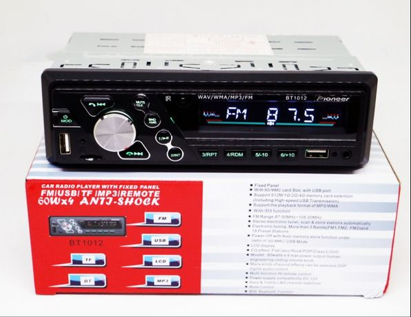 Магнітола Pioneer BT1012 з Bluetoth 4x50W