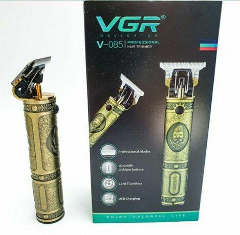 Машинка для стрижки волос бороды аккумуляторная от USB VGR V-085