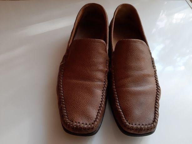 Ecco leather. Кожаные макасины 43 размер