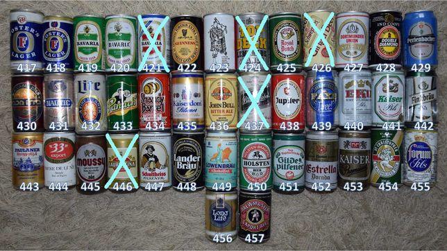 Latas vazias de bebidas variadas 09, para coleção ou decoração.