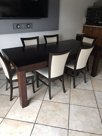 Stół rozkladany krzesla gratis