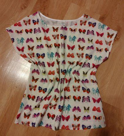 Bluzeczka krótki rękaw w motylki 36/S