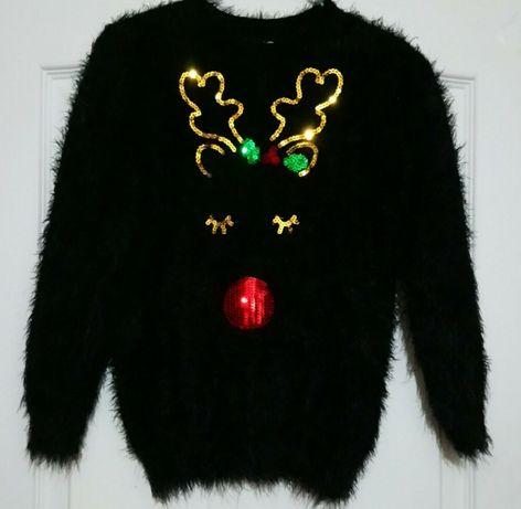 новогодний свитер травка 7-8 лет