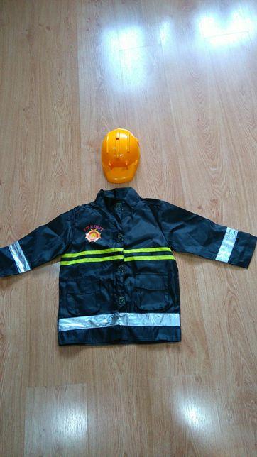 przebranie dla chłopca strój kostium strażaka 6-7lat