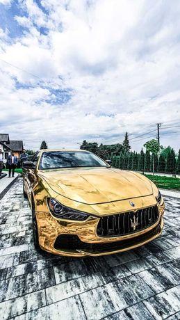 Auto/samochód do ślubu wesele ! Złote Maserati Mustang Corvette Camaro