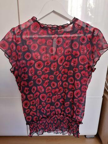 NOWA Szyfonowa bluzka kwiaty TOP SECRET rozmiar 38