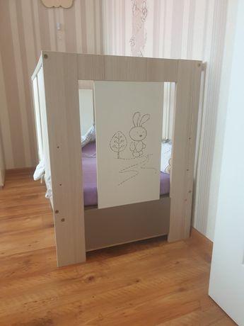 Łóżeczko dziecięce+szuflada i materac