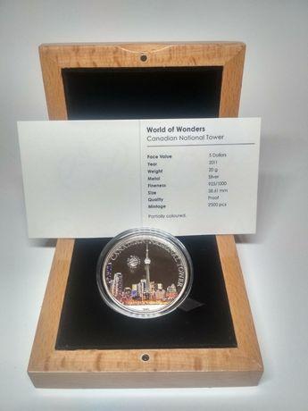 "Монета серебряная ""World of Wonders """