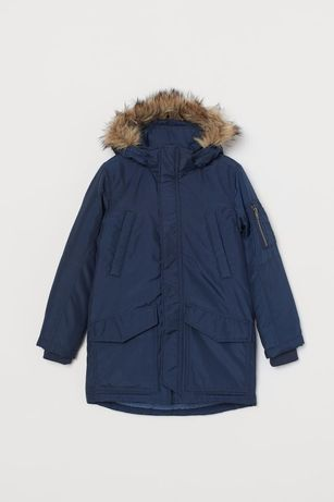 Теплая куртка - парка h&m 14+ на подростка 12 14 16 лет