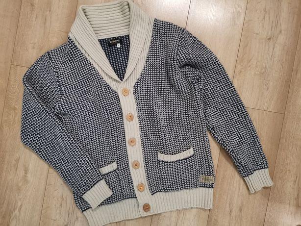 Sweter wełniany rozpinany kardigan Vintage XL Jack&Jones