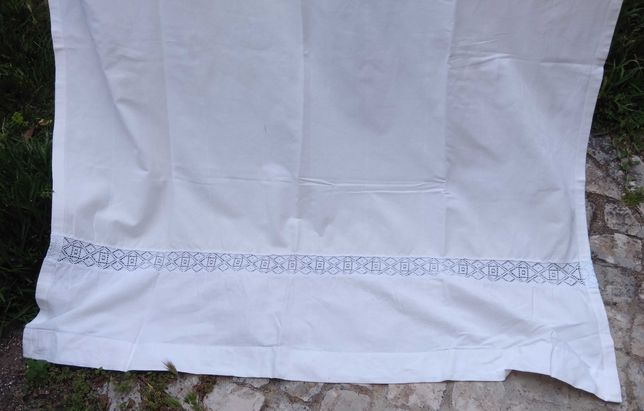 Cortinas grandes, brancas, algodão puro, opacas, lindas
