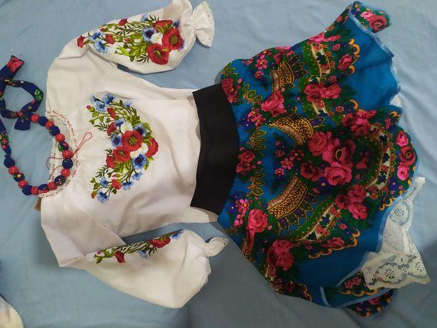 Strój góralski bluzka i spódniczka góralska haftowana folk 140-158