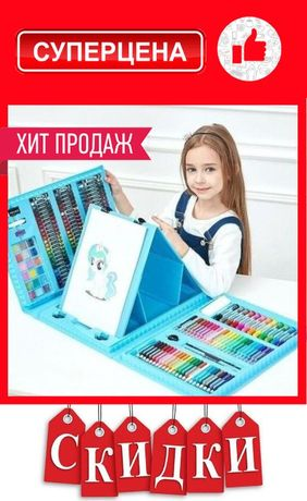 Набор детский большой для рисования и творчества 208 предметов Set881