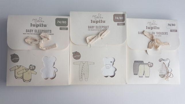 5sztuk Śpioszki, pajac, spodnie niemowlęce NOWE r.74/80 nie otwierane!