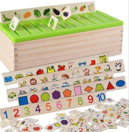 Sorter Montessori Drewniany Nowy