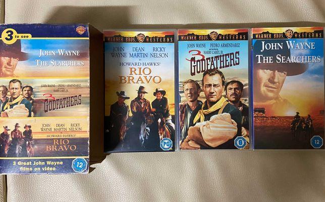 John Wayne 3 VHS Box