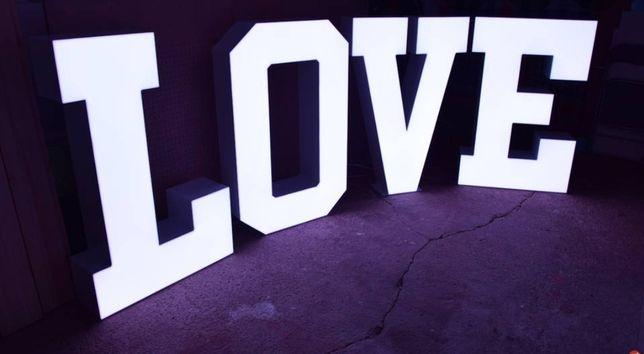 Napis LOVE,  wynajmę, Wesele, Jubileusz, DJ na Wesele Najtaniej !!!